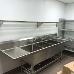 Gila Crossing Kitchen Cleaning Sink Area Kitchen Design - Arizona Restaurant Supply, INC